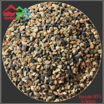 round kiln calcined bauxite 85 percent  3-5mm