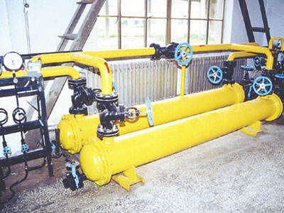 Titanium tubular heat exchanger