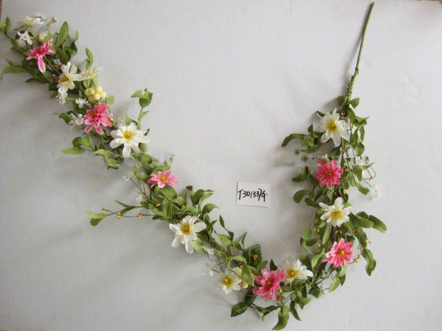 Artificial flower garland
