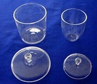 Clear Quartz Crucible, Silica Crucible with lip, Quartz glass Crucible Cylindrical or Conical