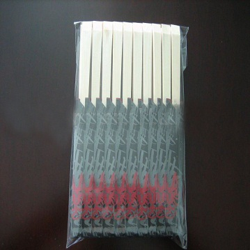 disposable wooden chopsticks with semi-wrapped paper packing