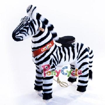 PonyCycle Ride On Toy plush zebra toy for kids