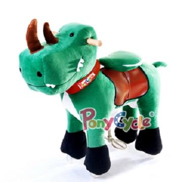 Ponycycle dinosaur toy on wheels