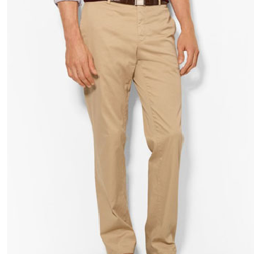 COTTON TWILL CHINO PANTS