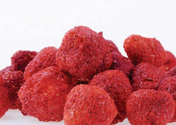 Strawberry Chips as snack food