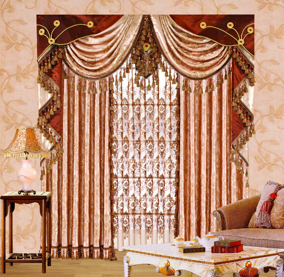 luxury curtain design with fancy valance