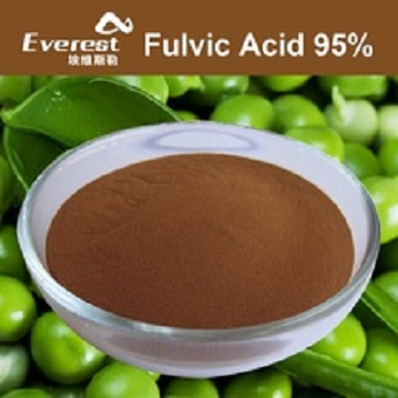 Bio Fulvic Acid 95 precent Powder For Foliar Fertilizer