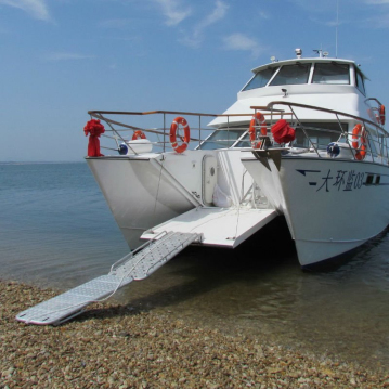 Aluminium catamaran commercial & bow door