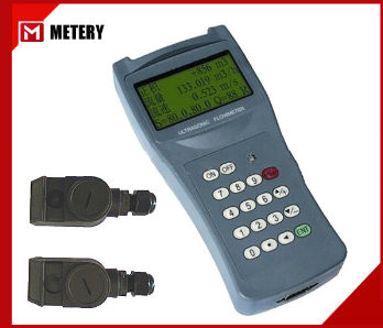 ultrasonic flow meter with medium size clamp on transducer