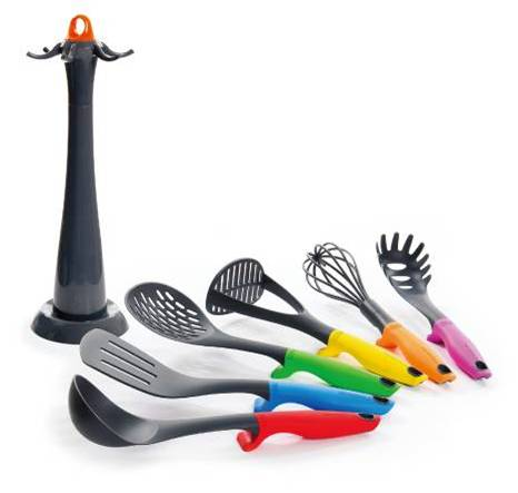 Heat-resistant Nylon Kitchenware Set with S/S Handle