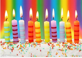 Colorful birthday candle