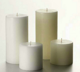 2014 cheap white or multi-colored layered white pillar candle