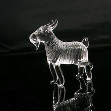 handmade cystal animal figurine black stone
