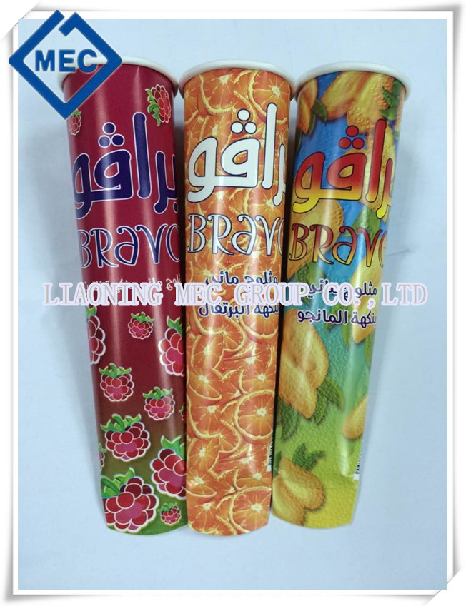 150MM SINGLE PE ICE CREAM CALIPPO TUBE
