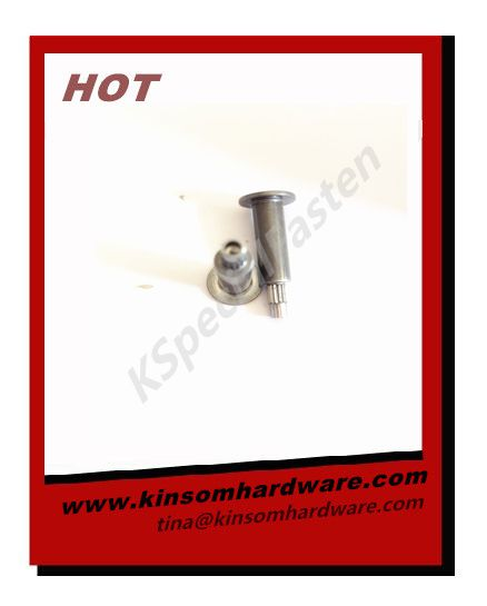 Special semi-tubular rivets flat head step knurling rivets