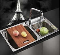 hot sale double bowl stainless steel kitchen sink