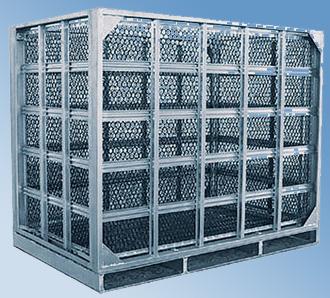 carbon steel foldaway meshy pallet box