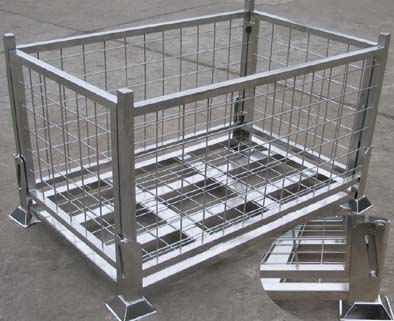 Foldable Warehouse Wire Mesh Container