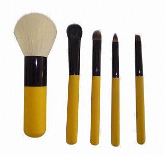 Mini Brush Set with Aluminum Ferrule