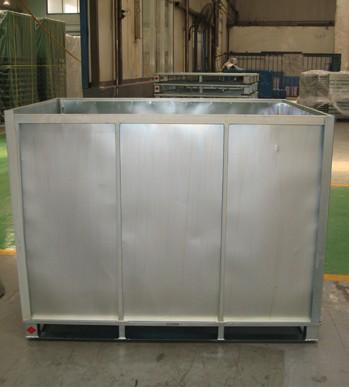 Custom metallic wire mesh warehouse storage container