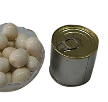 Canned quail egg, peeled and boiled, packing in pouch/tin/jar