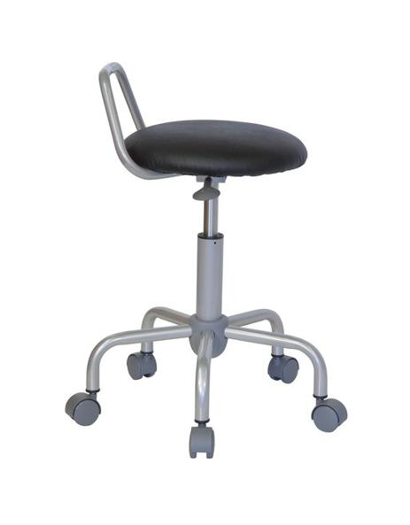Ergonomic Stool with Backrest, Black