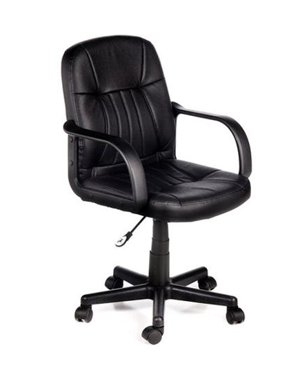 Comfort Products 60-5607M Leather Chair, Black