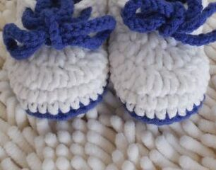 Hand crochet baby toddler shoes cute soft bottom wool