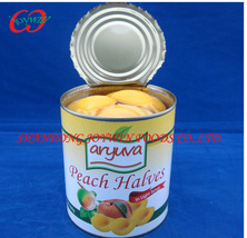 Canned yellow peach halves in juice