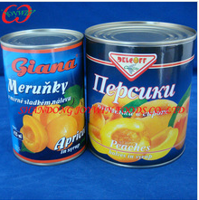 Canned apricots halves 850ml syrup IFS Certificate