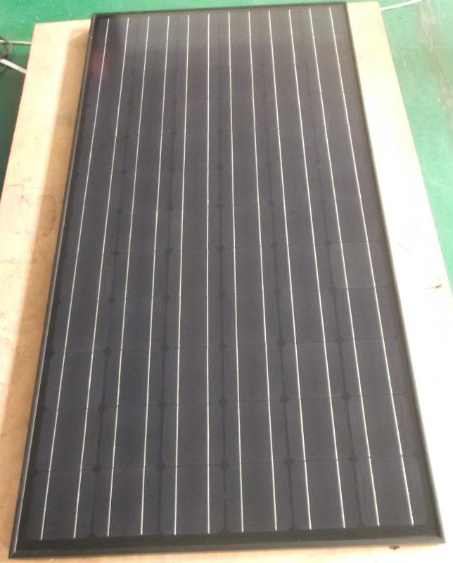 all black solar panel mono125 200w
