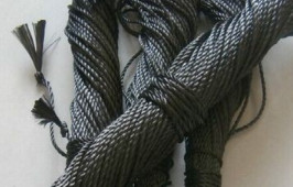 Carbon fiber rope with high strength