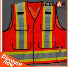 short sleeves men red two-tape safety coverall hi viz safety coverallsfrc coverall