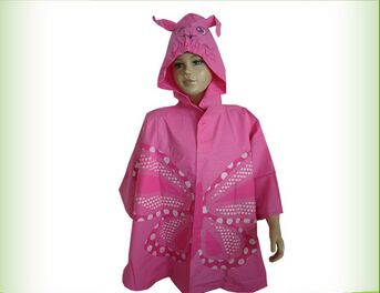 Kids pvc rain poncho