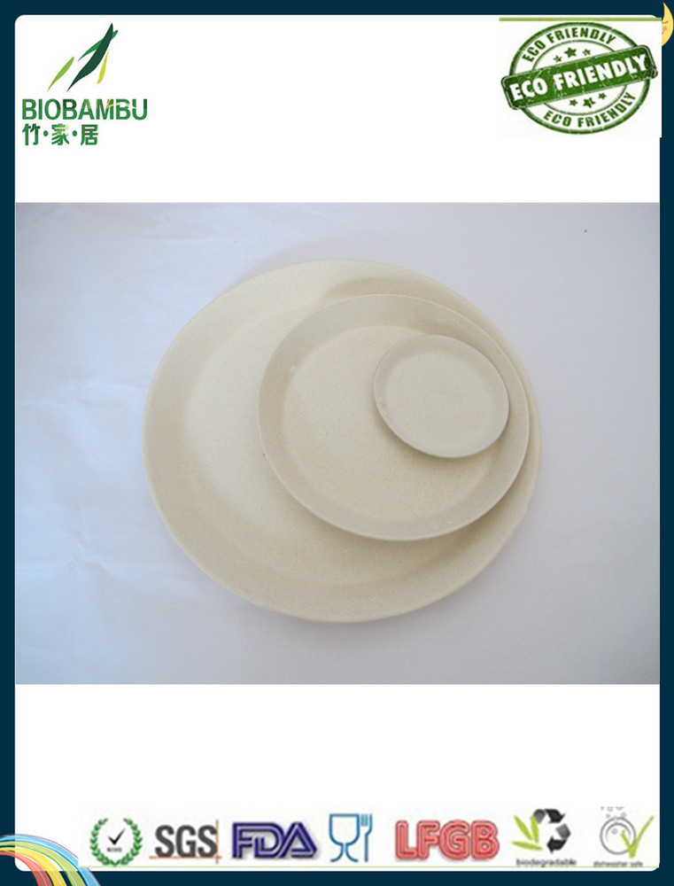 bamboo fiber biodegradable plates and dishes dinnerware set