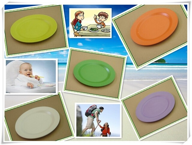 Disposable cheap Bamboo fiber plate / plates ( FDA,SGS certificated) for cake, cookies, snacks,etc