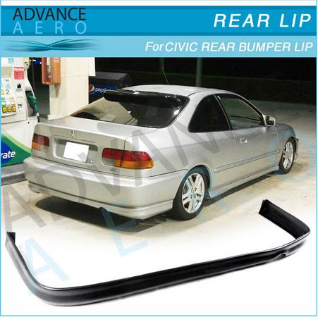 FOR 96 97 98 Honda Civic EK 2/4 Door (PU) tr style Urethane Rear Bumper Lip Spoiler Body kit