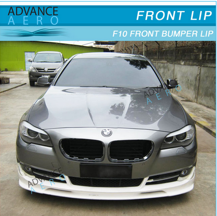 FOR 2010 2011 2012 2013 BMW F10 5-SERIES 528 535 PU FRONT BUMPER LIP SPOILER POLY URETHANE