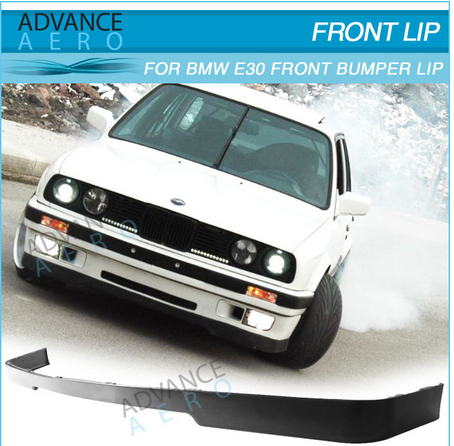 FOR 84 85 86 87 88 89 90 91 92 BMW E30 3-SERIES LOWER VALANCE OE MTECH STYLE FRONT BUMPER LIP SPOLIER BODY KIT PU