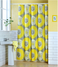 Custom printed shower curtain, polyester shower curtain