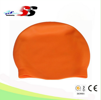 Custom logo adult kid size silicone swim Cap