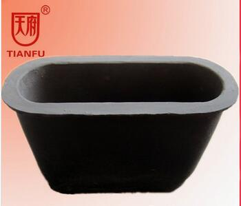 Bilge Shape Crucible For Aluminum Copper Brass