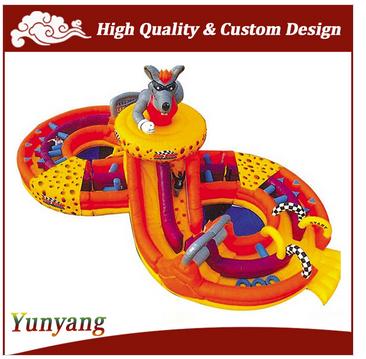 Large inflatable slide for kids