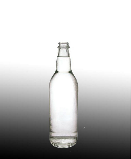 recycled Vodka clear glass wine bottle