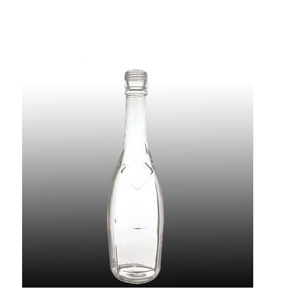 custom made clear glass beverage bottle wholesale
