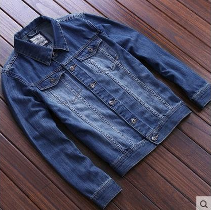 The spring and autumn winter tide men's denim jacket denim jacket retro youth s casual jacket thin clothes
