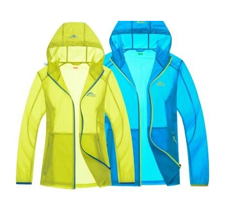 Spring and summer outdoor skin clothing coat UV coat thin breathable sunscreen clothing male female couples long sleeved tide