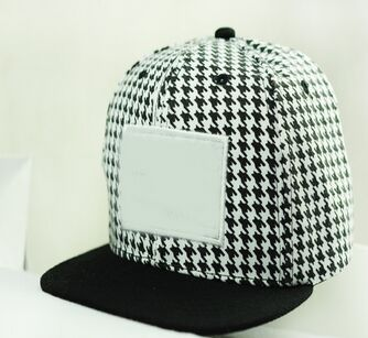 Cotton latest version Houndstooth snapback hat