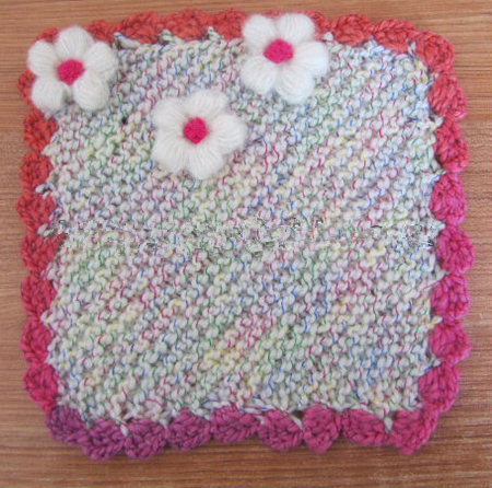 high quality crochet design hot sale crochet coaster