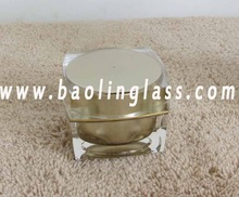 Tin Jars for Cosmetics Glass Container for Skin Cream